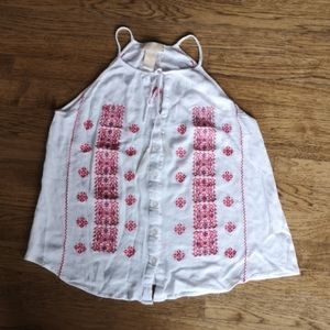 Anthropology Embroidered Festival Tank But…